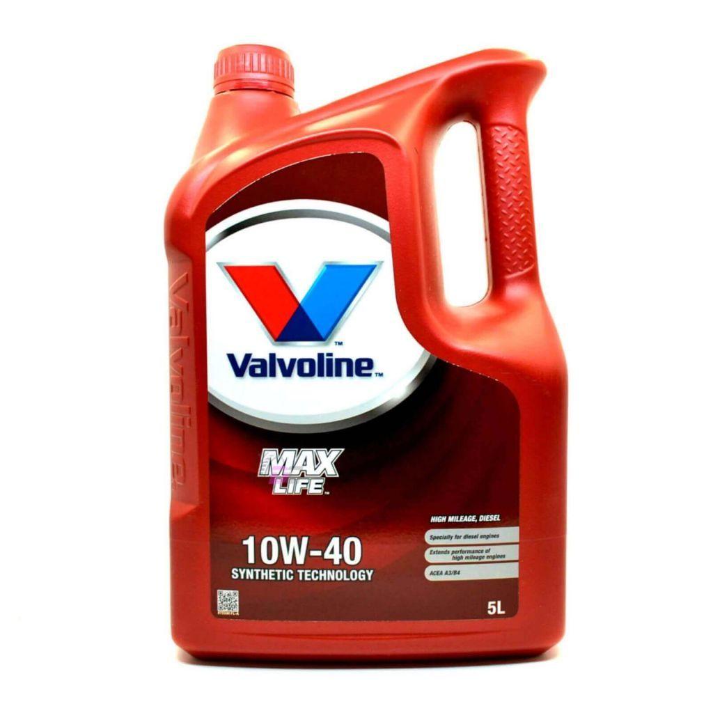VALVOLINE MAX LIFE 10W-40 DIESEL ACEA A3 B4 5L