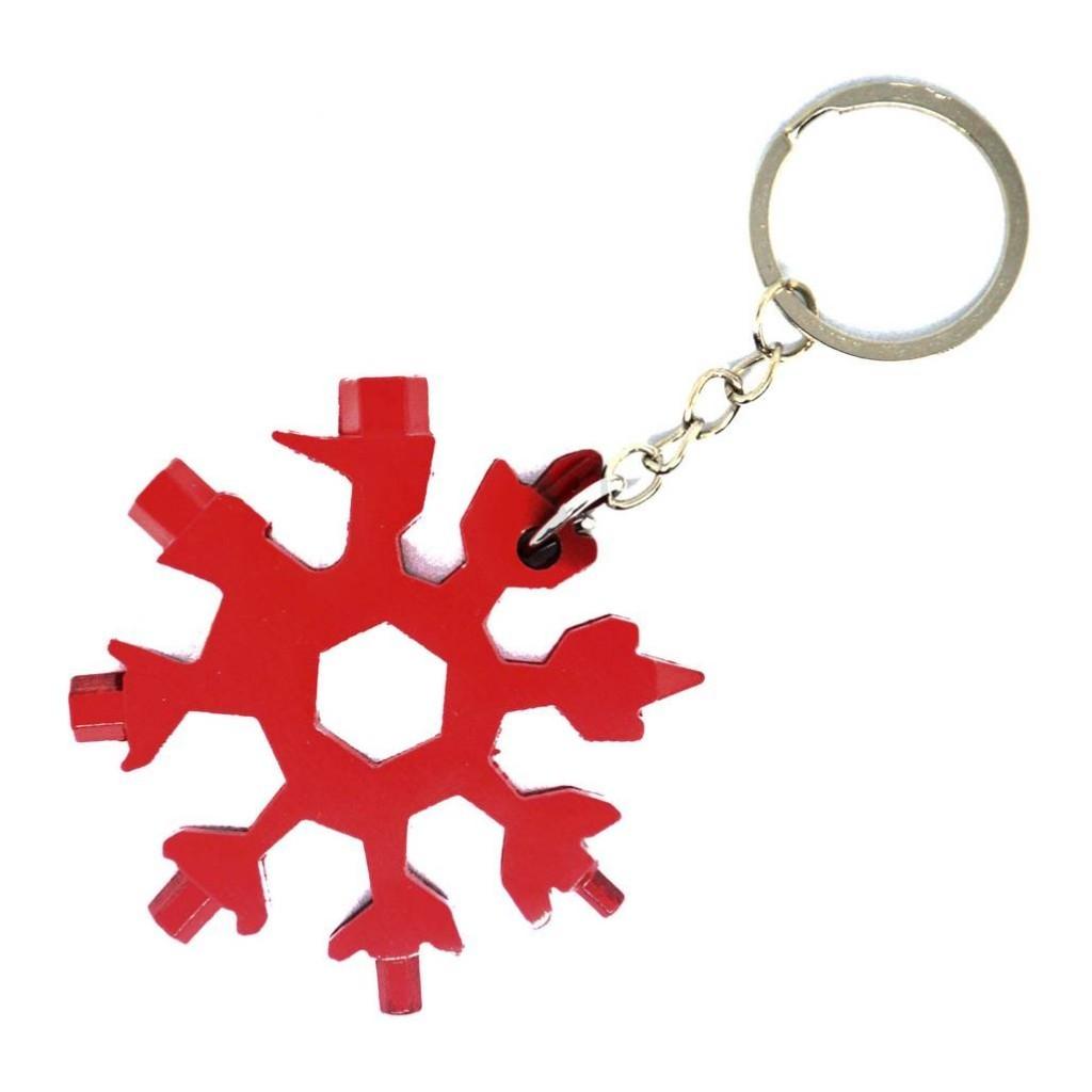"""Купить брелок мультитул """"Снежинка"""" или красный велосипедный ключ"""