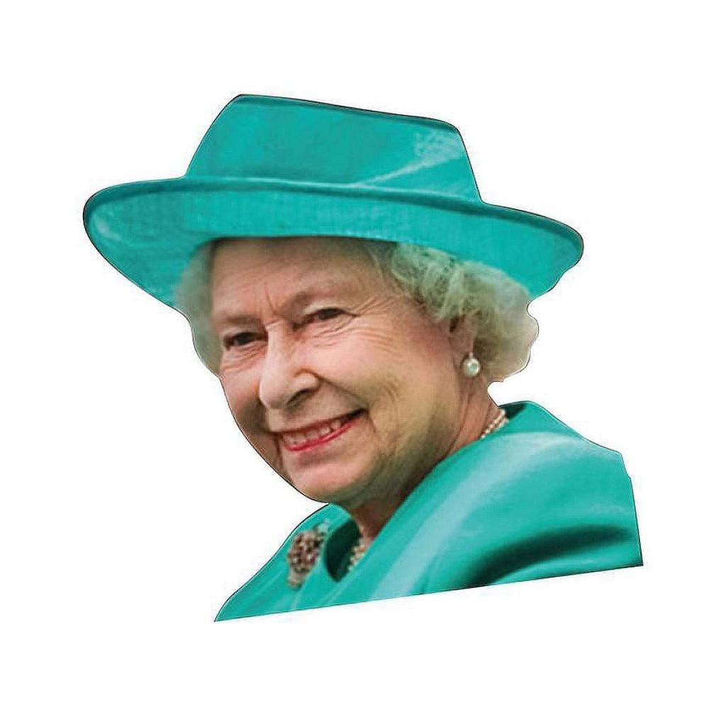 "Наклейка на боковое окно авто - ""Королева Елизавета"""
