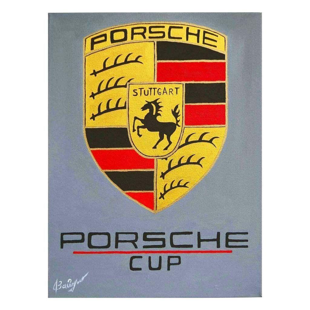 """Картина акрилом - логотип """"Porsche CUP"""""""