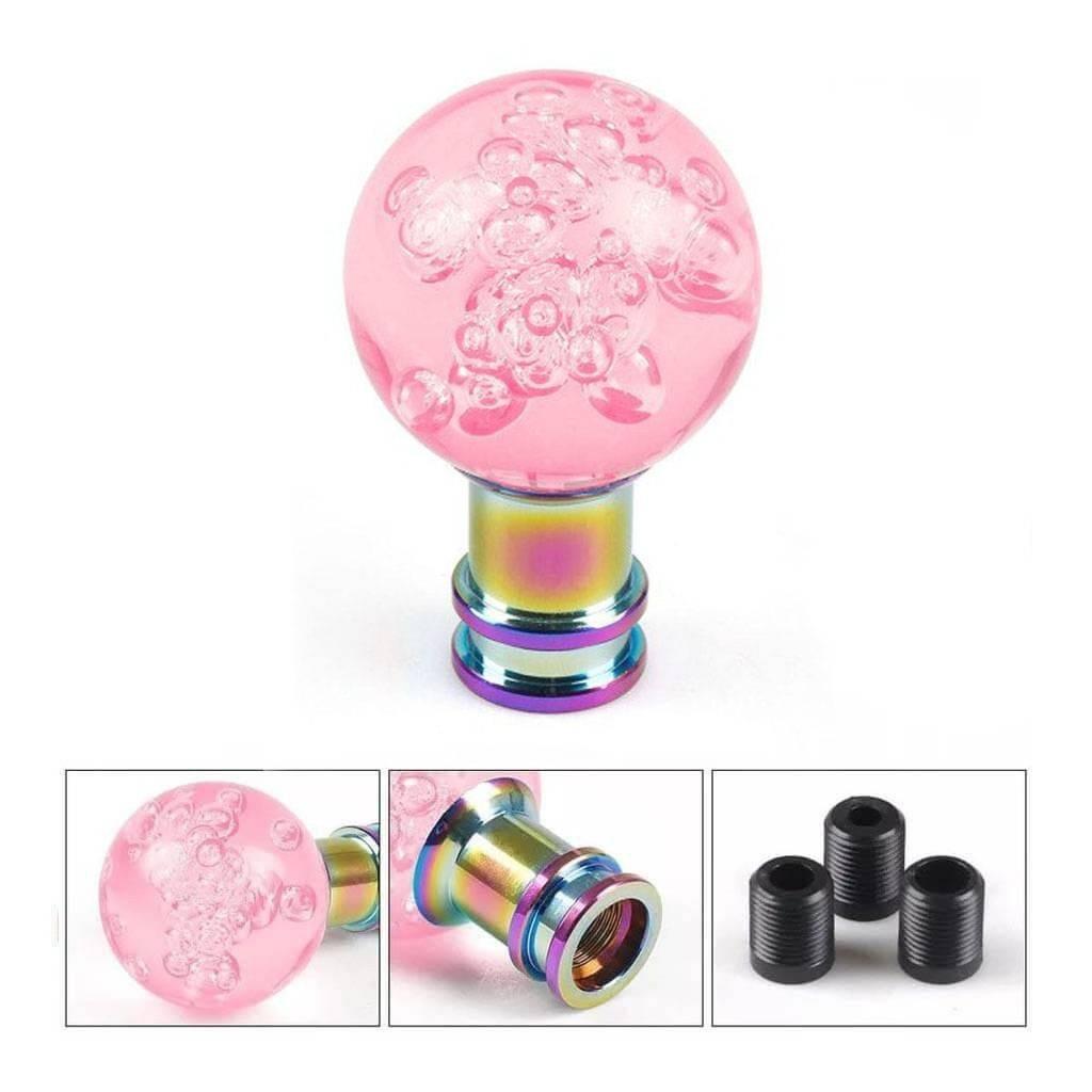 """Декоративная тюнинг-ручка КПП - """"Розовый акриловый шар Bubble"""""""