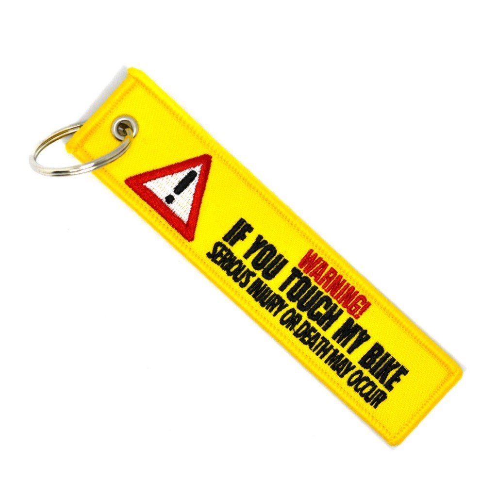 "Брелок-бирка для ключей ""Warning"""