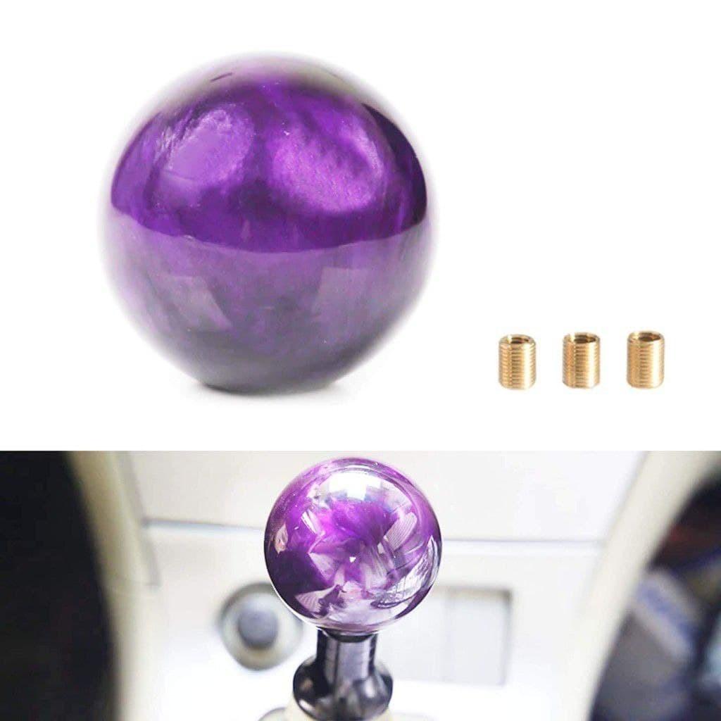 """Ручка КПП """"Шар"""". Фиолетовый аксессуар с мистическим узором"""