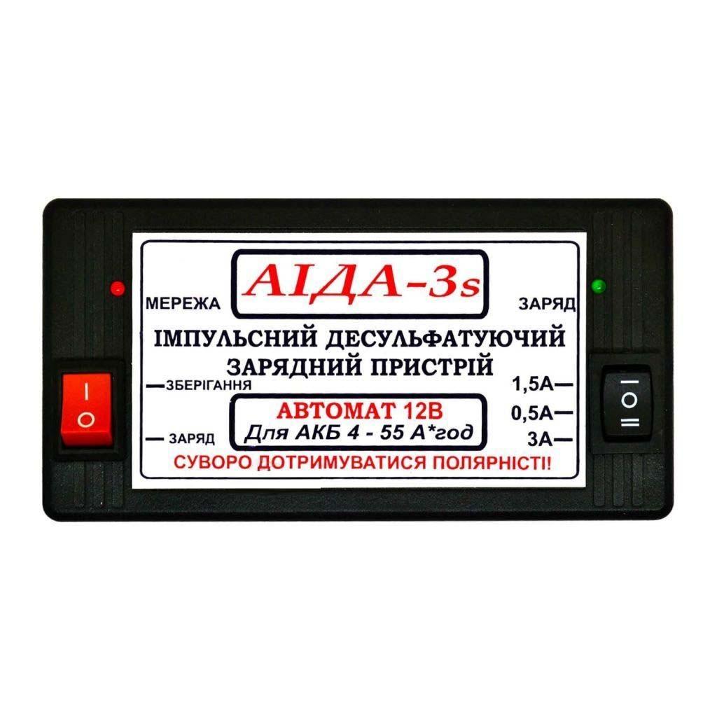 Автоматическое десульфатирующее зарядное устройство 12 В - AIDA-3s