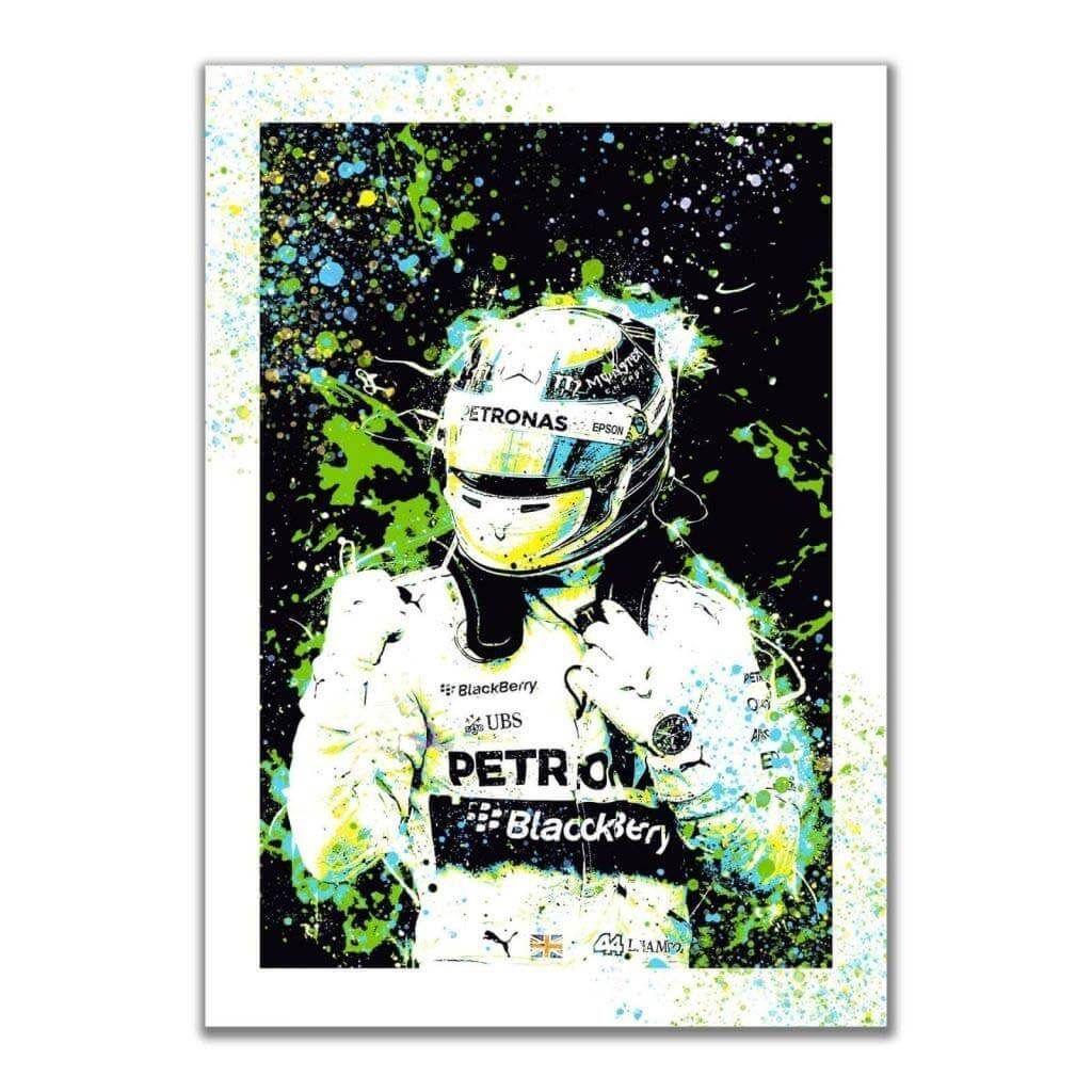 """""""Lewis Hamilton - Mercedes AMG F1 Team"""" - Постеры на стену больших размеров"""