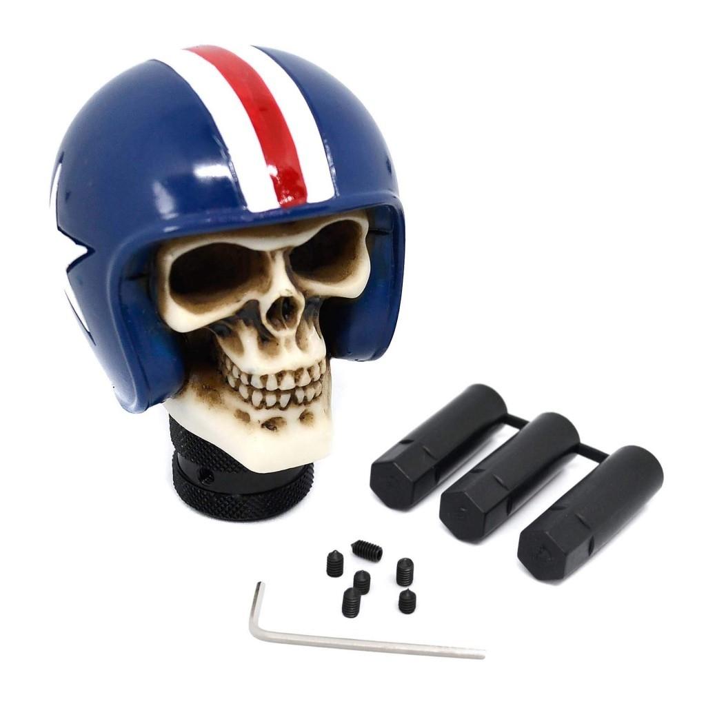 """Рукоятка КПП """"Череп в гоночном шлеме"""""""