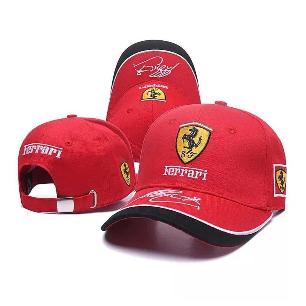 Красная кепка Феррари F1