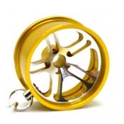 Колесный диск с карабином  - ЖЕЛТЫЙ