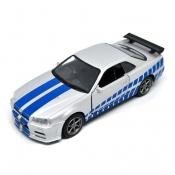Nissan Skyline Ares GTR R34 Diecasts Fast & Furious Paul Walker - 1:36
