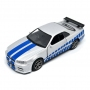 Nissan Skyline Ares GTR R34 Diecasts Fast & Furious Paul Walker - 1:36